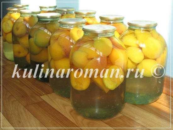 Компот из персиков - 6 лучших рецептов приготовления и заготовки на зиму