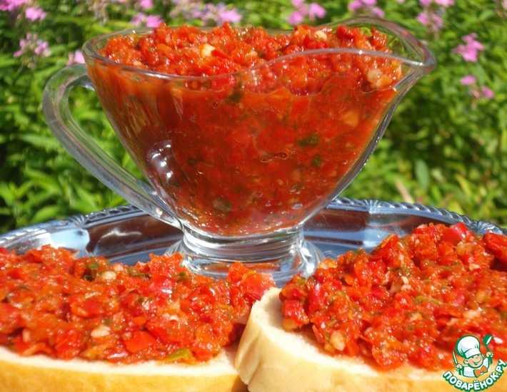 Аджика на зиму лучшие рецепты из помидоров с фото пошагово - самая вкусная