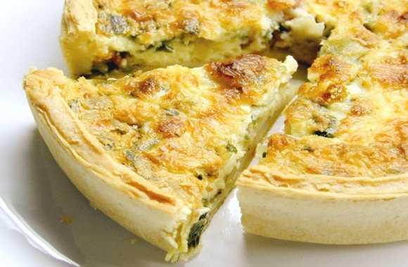 Пирог с курицей и сыром из дрожжевого теста в духовке