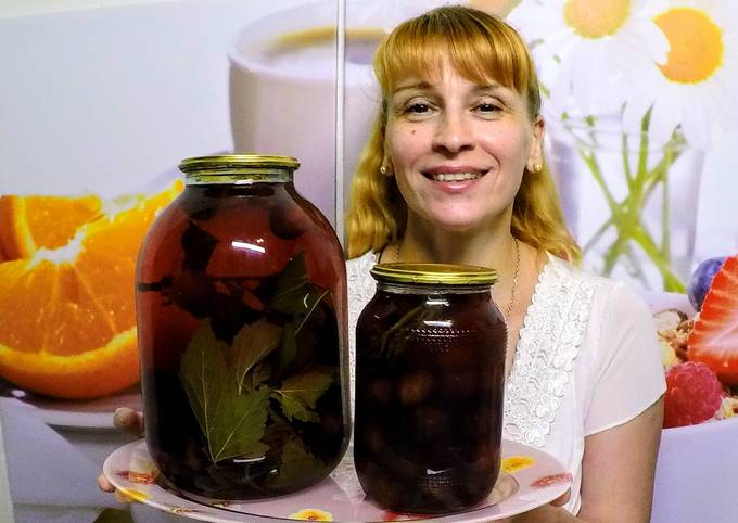 Компот с черешни на зиму рецепт с фото