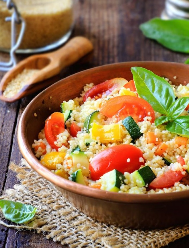 Салат из куриной грудки со сливами и кускусом рецепт с фото пошагово - 1000.menu