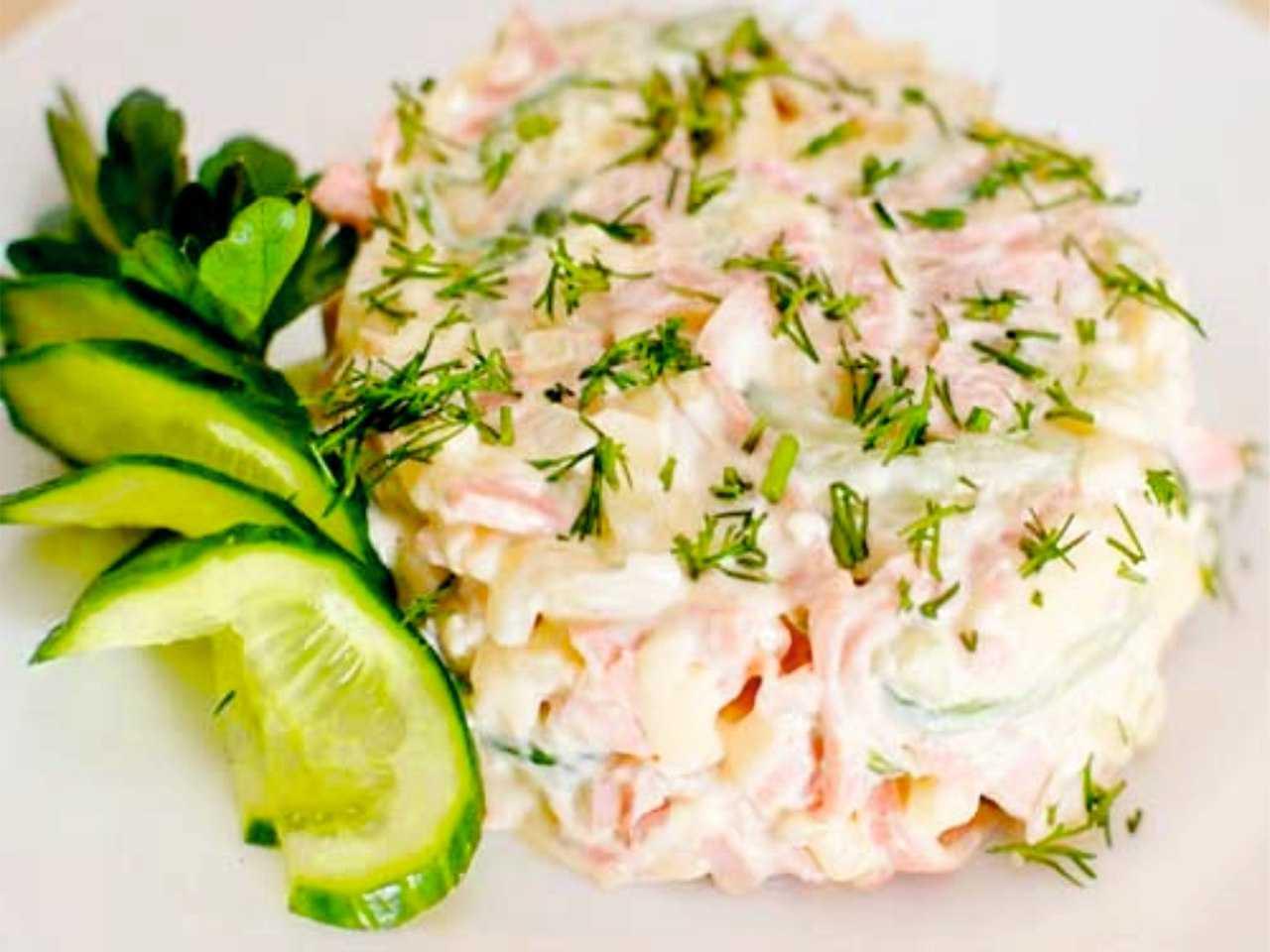 Салат с ветчиной, грибами, сыром и майонезом рецепт с фото пошагово и видео - 1000.menu