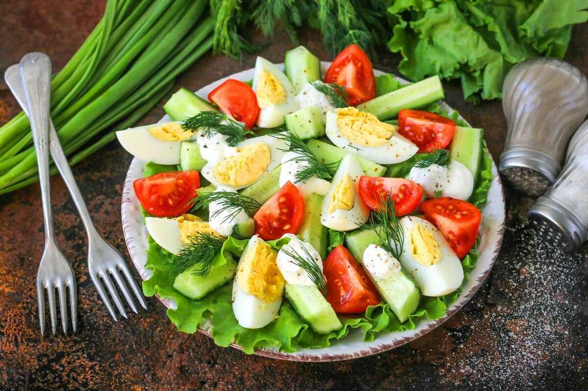 Салат летний: рецепты с фото пошагово