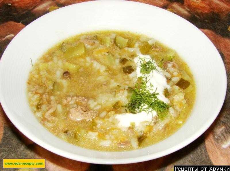 Рассольник с рисом и солеными огурцами. 5 рецептов очень вкусного супа к обеду