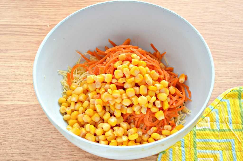 Салат с корейской морковью - 110 рецептов приготовления пошагово - 1000.menu