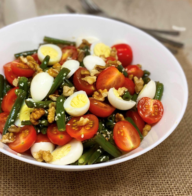 Салат из стручковой фасоли с яйцом: рецепты с фото пошагово