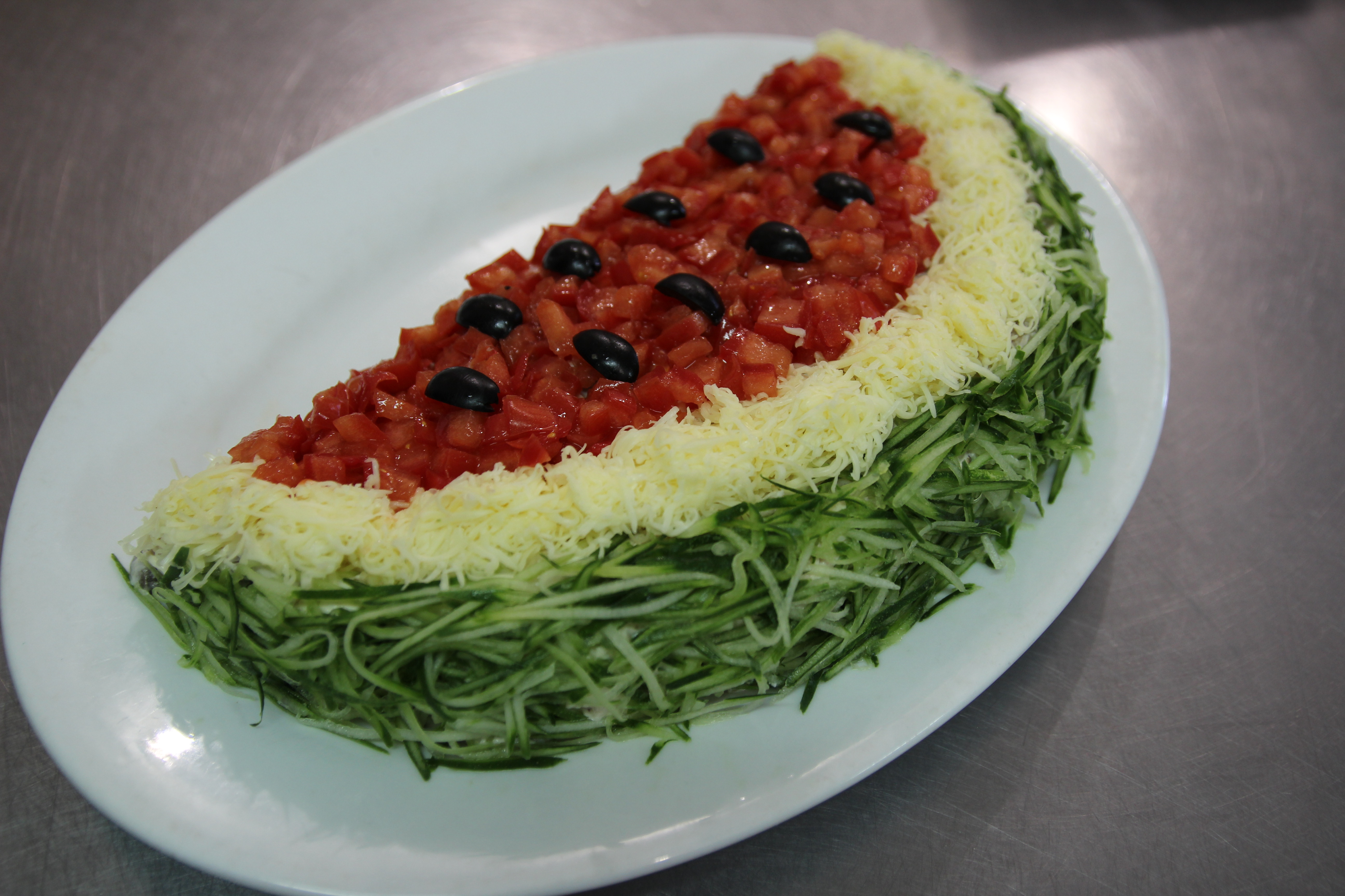 Салат «арбузная долька»: 3 варианта