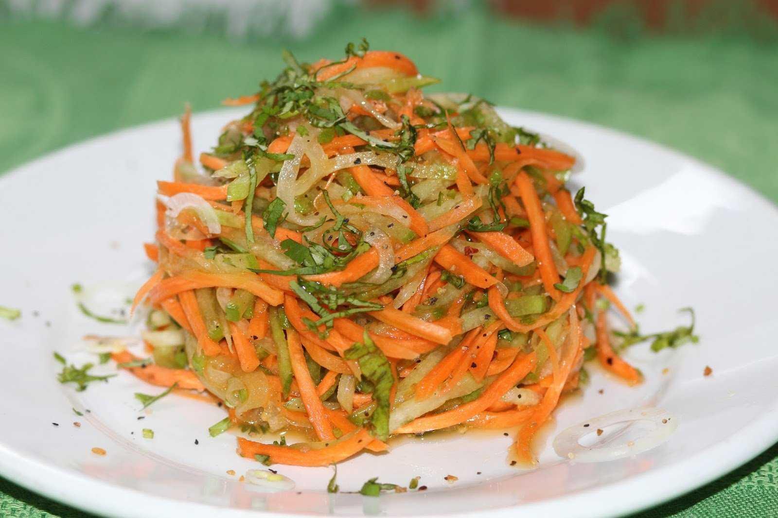 Салат из зеленой редьки с морковью. полезные салаты: рецепты