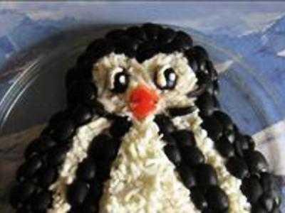 Закуска на новый год «пингвины» - 3 рецепта