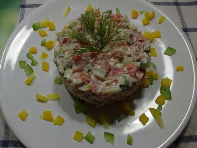 Как приготовить салат Пражский с курицей: поиск по ингредиентам, советы, отзывы, пошаговые фото, подсчет калорий, удобная печать, изменение порций, похожие рецепты