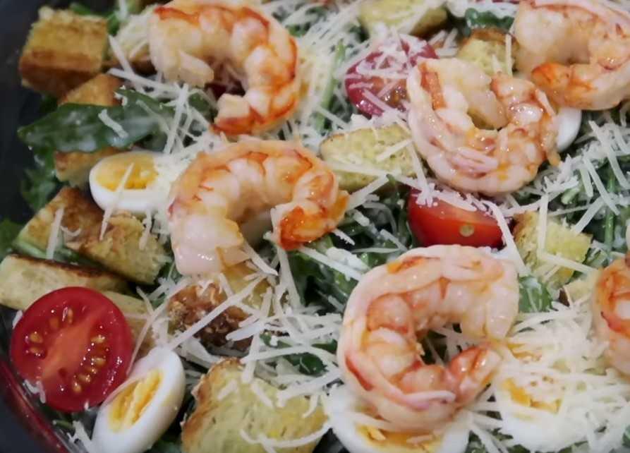 Салат креветки красная икра - 20 рецептов приготовления пошагово - 1000.menu