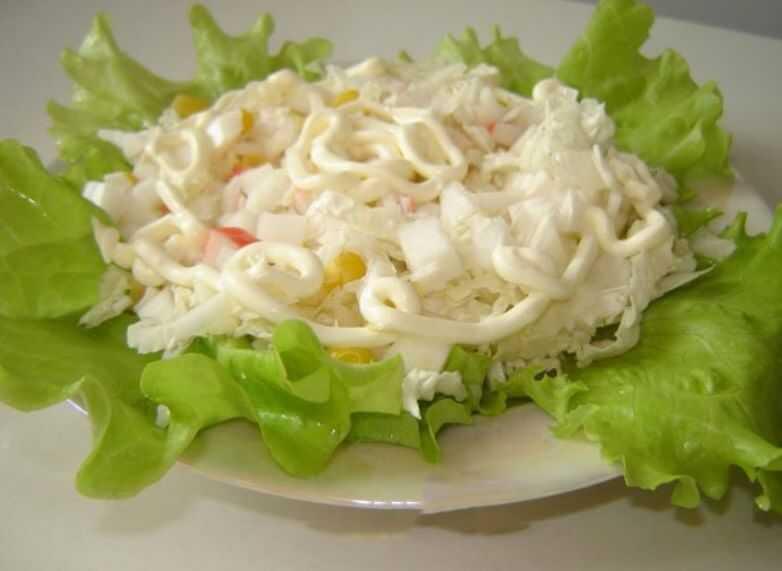 Рецепты салат с китайской капустой и курицей