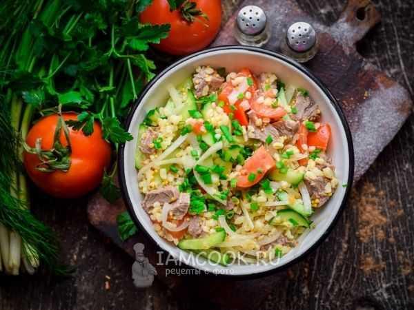 Салат с булгуром и овощами - 51 рецепт: салаты | foodini