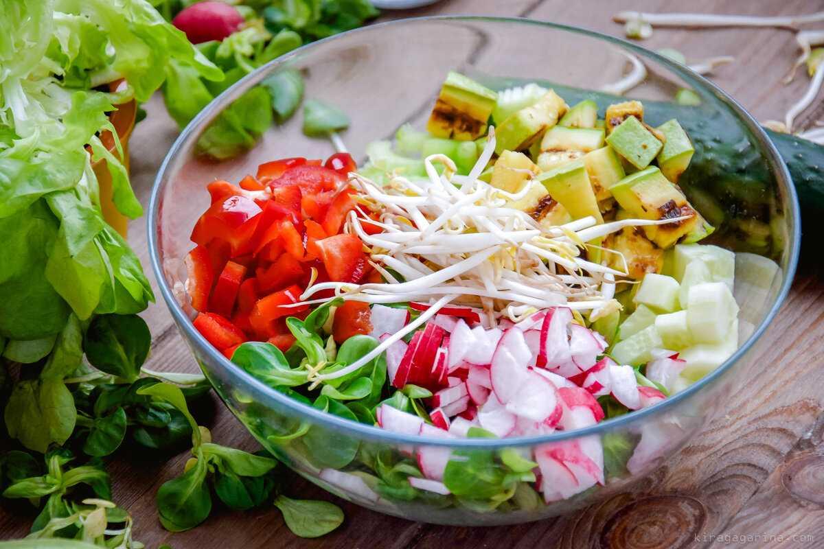 Салат деревенский - народное блюдо: рецепт с фото и видео