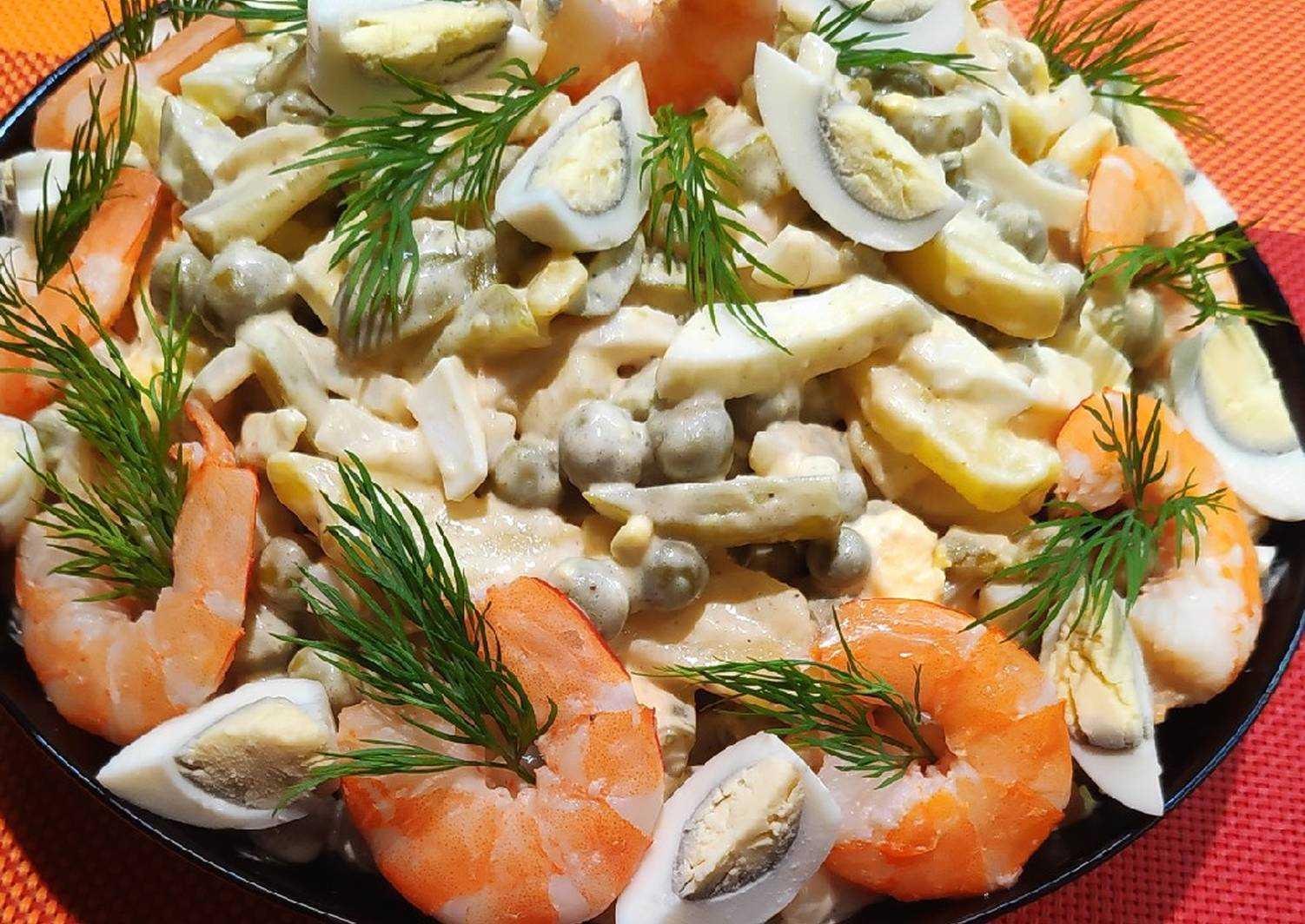 Салат «мидии с яйцом» — пошаговый рецепт с фото