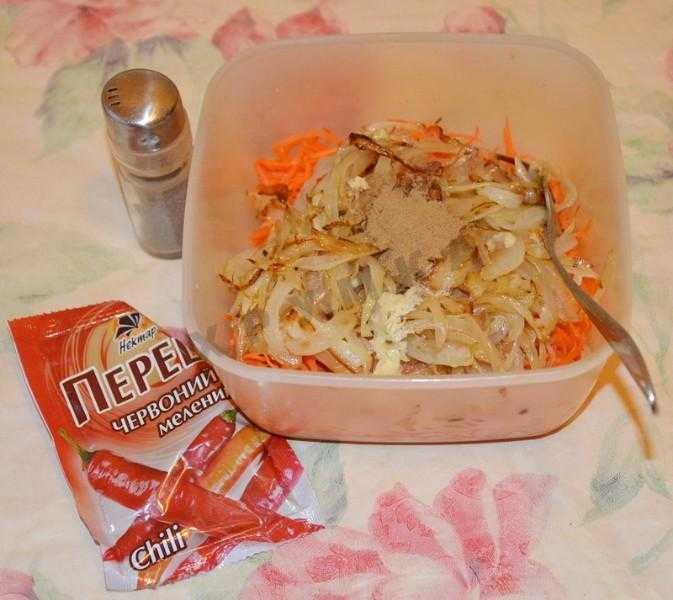 Салат кальмары с корейской морковью