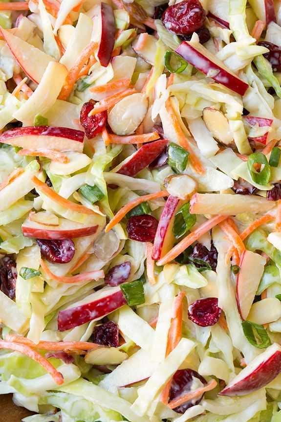 Постный салат с яблоками