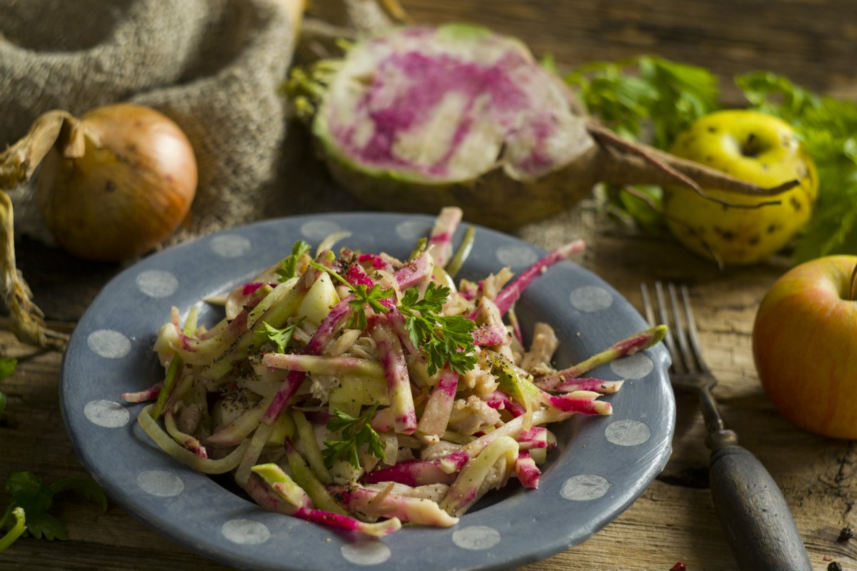 Рецепты салат с редькой и курицей