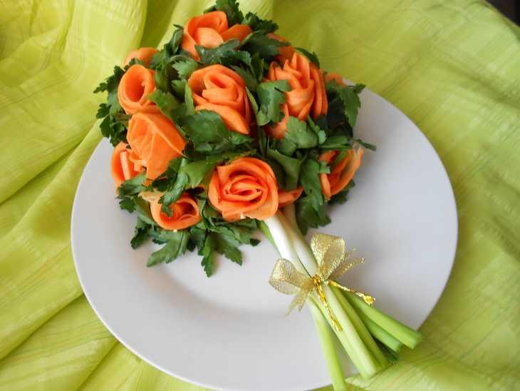 Праздничный салат «букет»