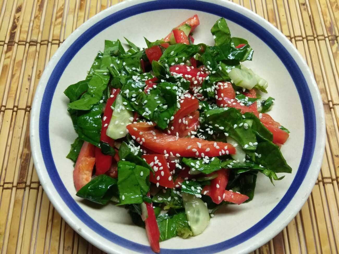 Овощной салат с фетой рецепт с фото пошагово - 1000.menu