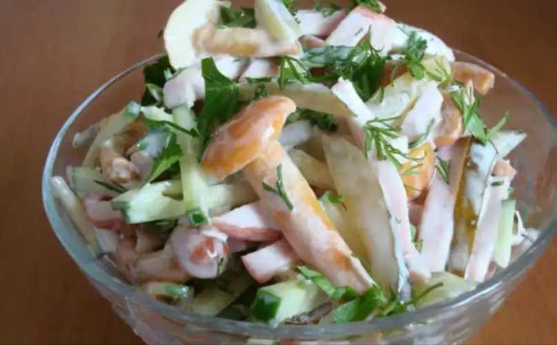 Салат с курицей «рыжик» - пошаговый рецепт, варианты