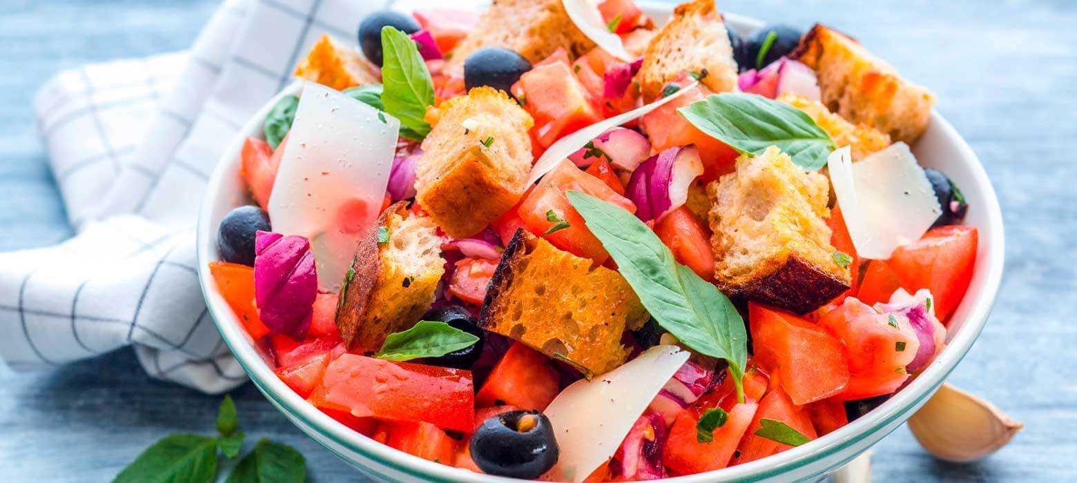 Панцанелла – простой и летний итальянский салат: рецепт с фото и видео