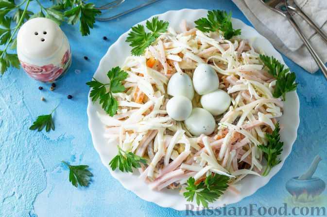 Салат на пасху гнездо с перепелиными яйцами рецепт с фото пошагово - 1000.menu
