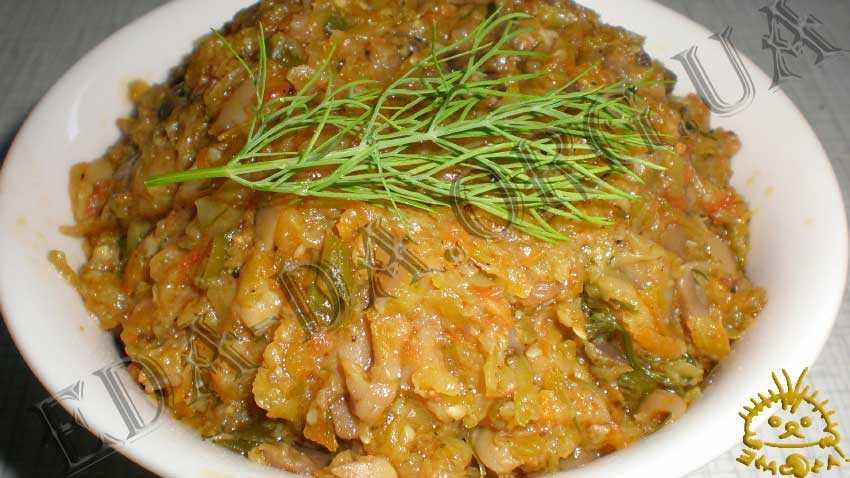 Икра из кабачков с грибами - рецепт на сковороде кабачковой икры   чудо-повар