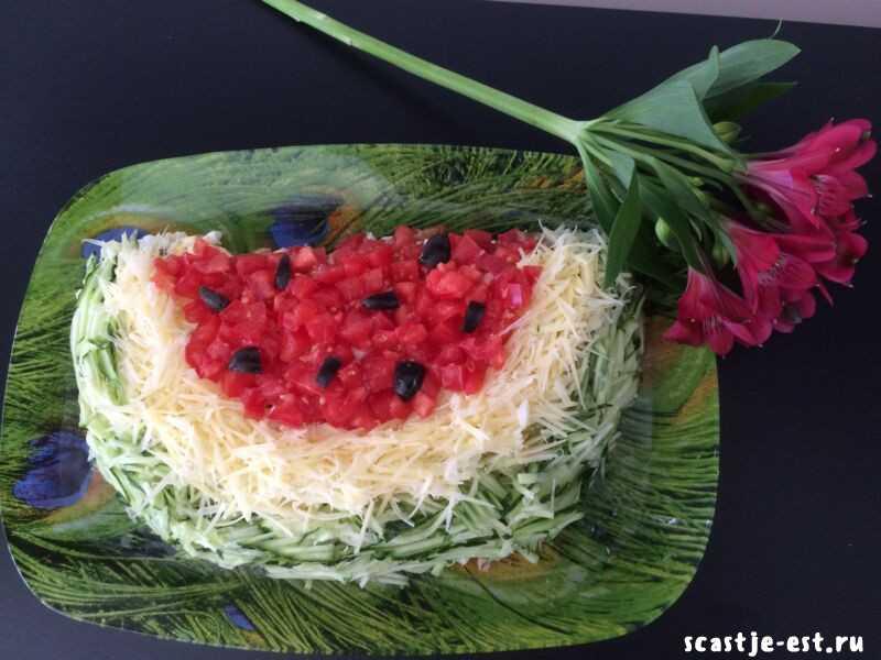 Салат арбузная долька – 7 рецептов