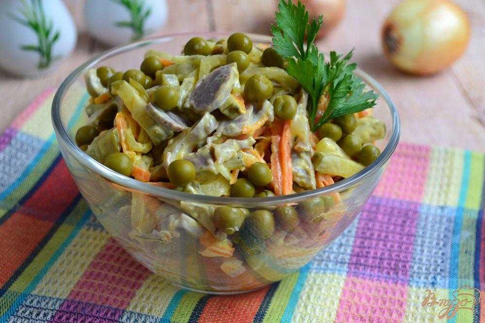 Салат с горошком и яйцом: лучшие рецепты