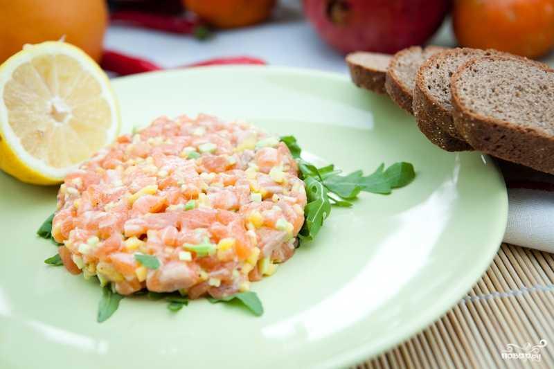 Тартар из лосося - 6 рецептов приготовления