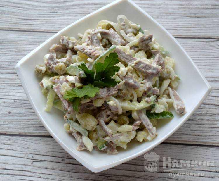 Изысканный мясной салат министерский рецепт с фото пошагово и видео - 1000.menu