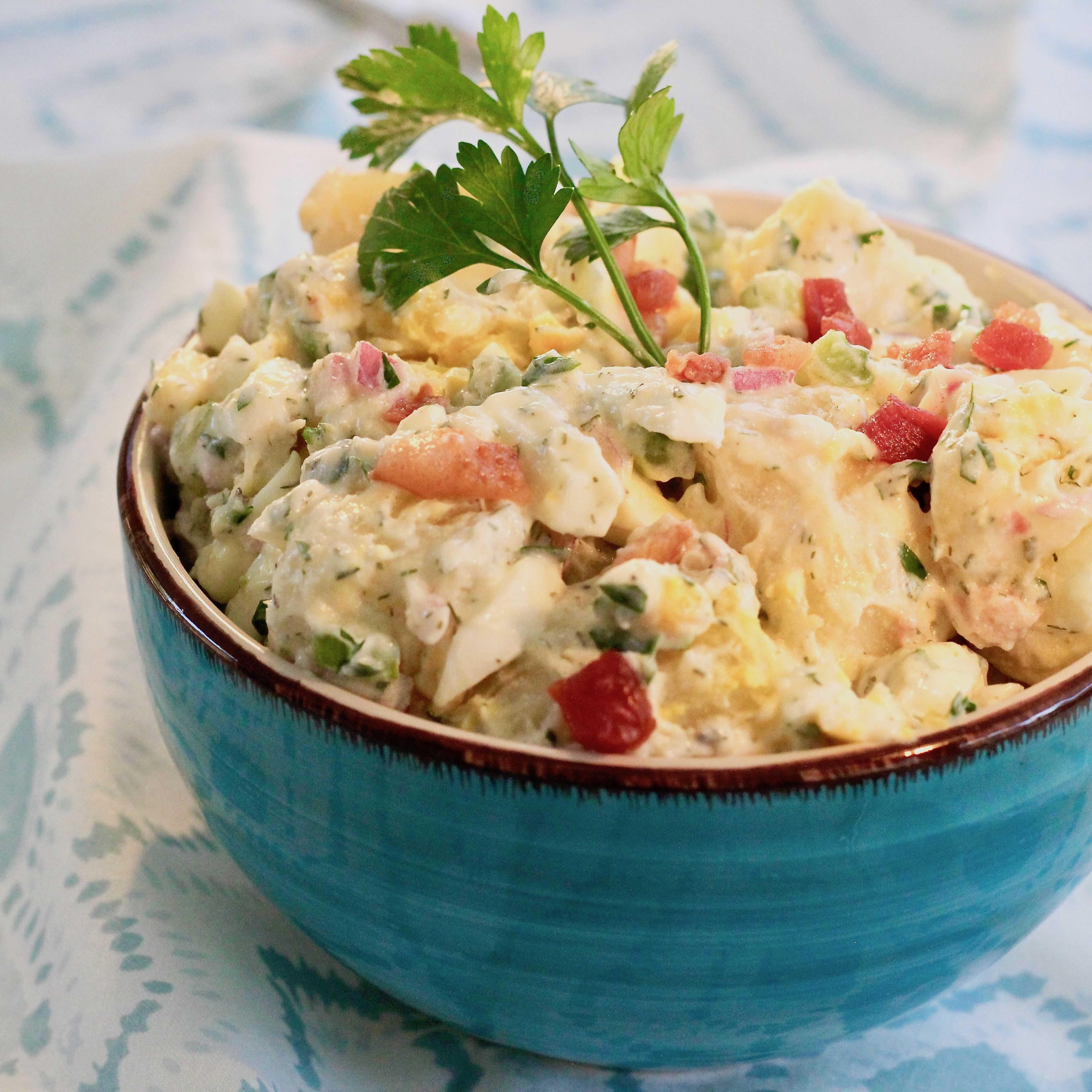 Картофельный салат по американски рецепт с фото - 1000.menu
