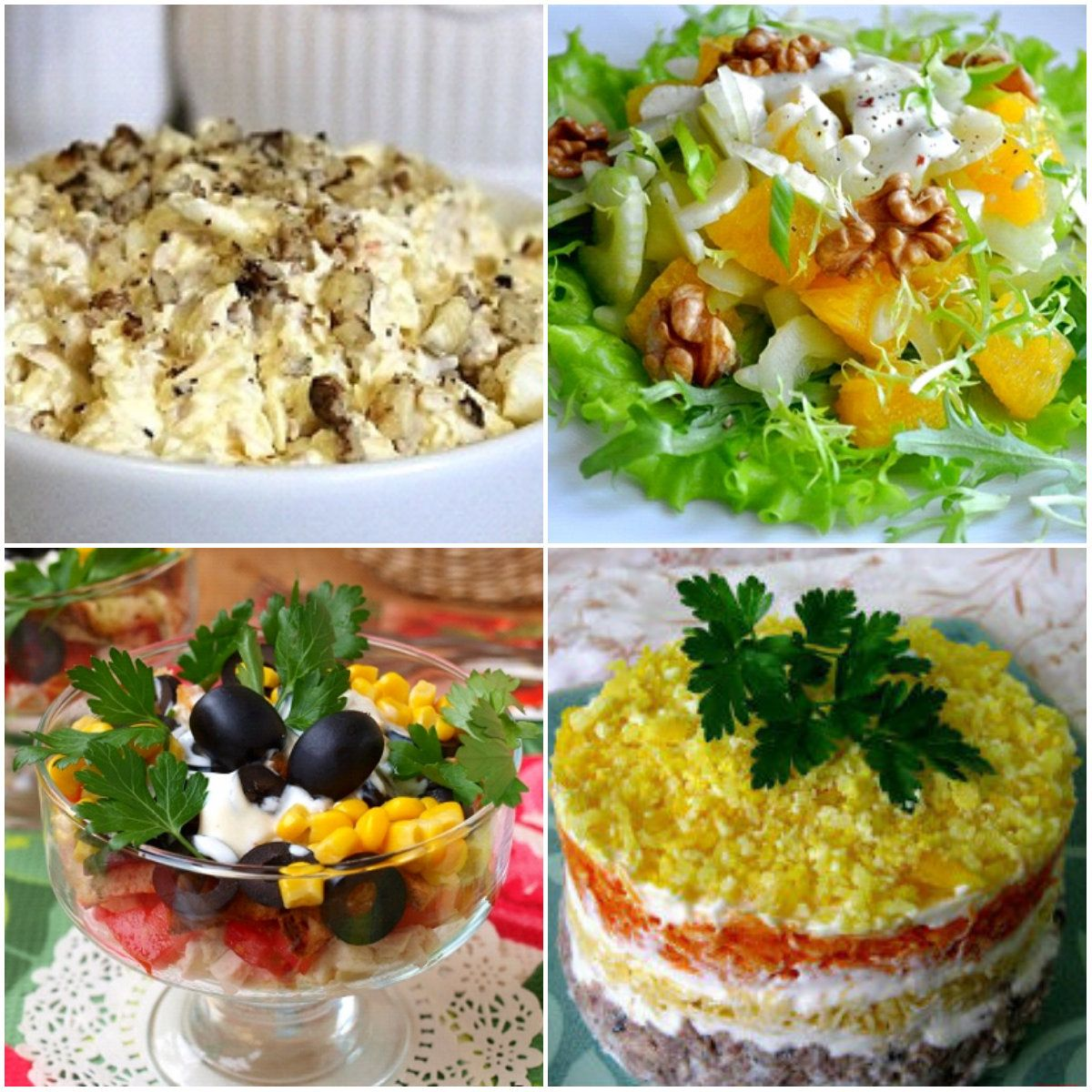 Салаты на день рождения: простые и вкусные рецепты