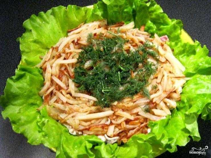 Салат перепелиное гнездо – рецепт с фото