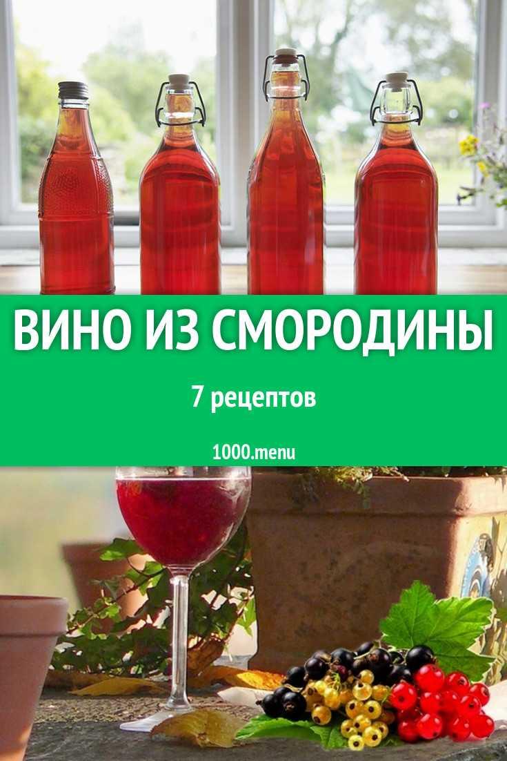 Как сделать вино из красной и черной смородины в домашних условиях