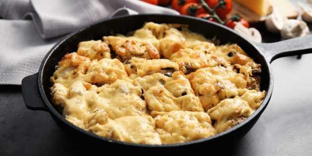Жульен с грибами и курицей - рецепт с фото в духовке, как готовить
