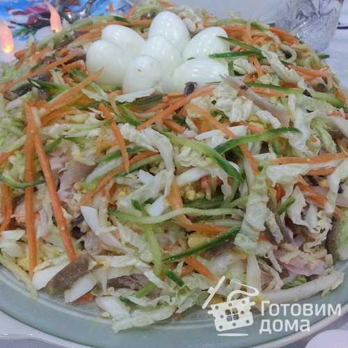 """Салат """"ласточкино гнездо"""" - пошаговый рецепт приготовления с фото"""