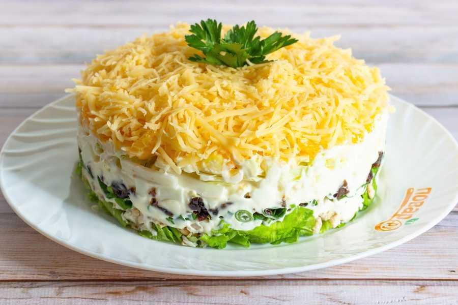 Салат с грибами и курицей - 7 рецептов очень вкусных салатов