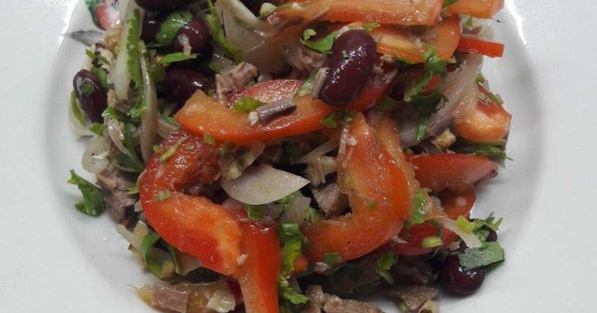 Салат тбилиси с красной фасолью — рецепт просят все кто пробует