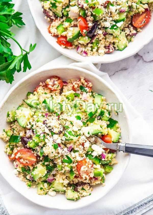 Салат с кускусом – полезный ужин в одном блюде: рецепты с фото и видео