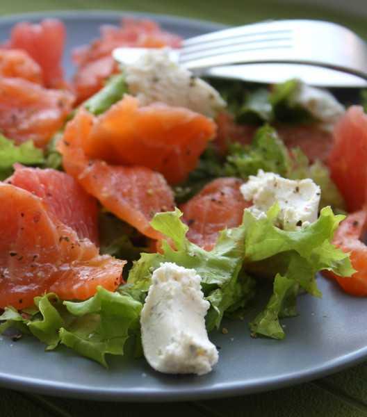 Рецепты салат из семги с сыром