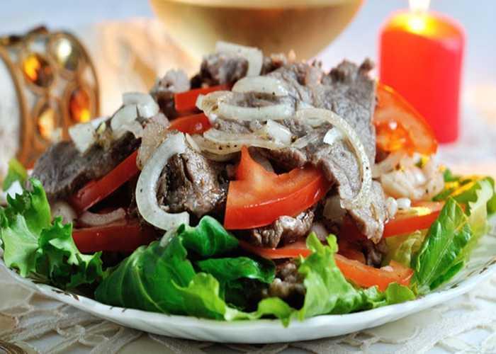 Салаты с телятиной » рецепты - готовим дома   «наобед.kz»