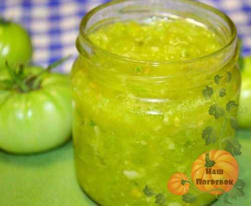 Икра из зеленых помидоров на зиму: рецепт и фото