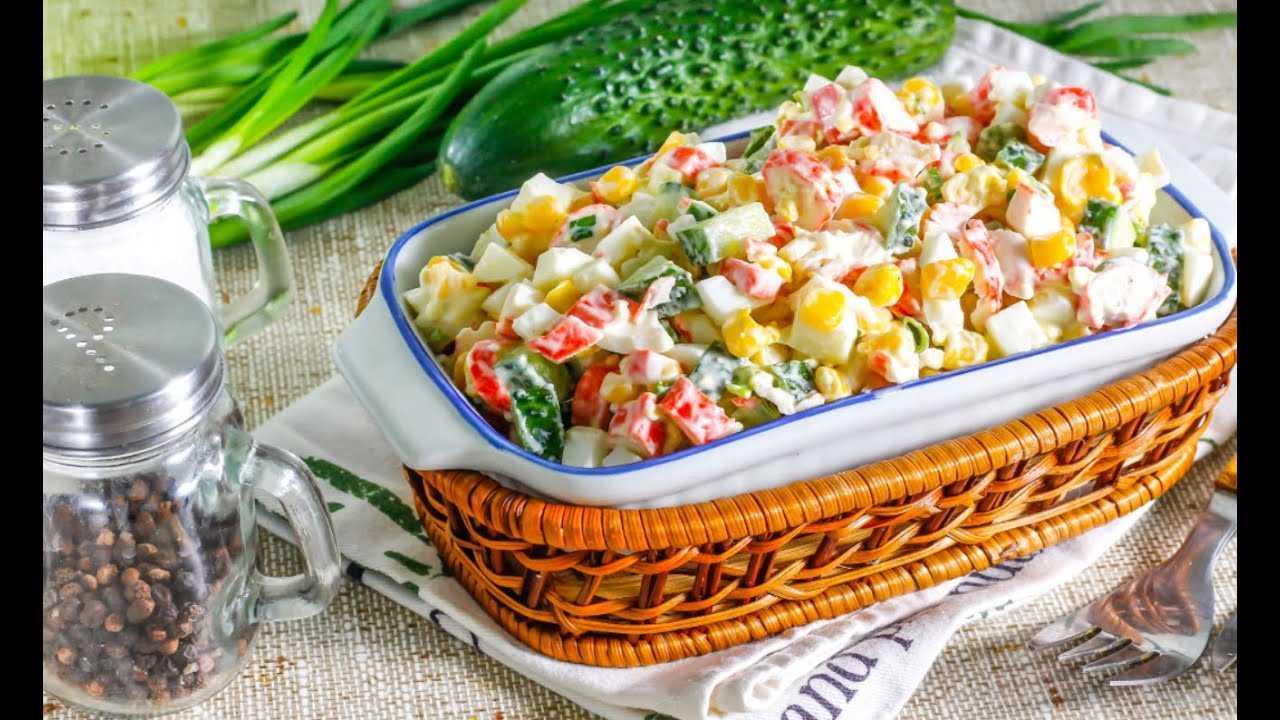 Диетический (пп) салат с крабовыми палочками: 6 рецептов