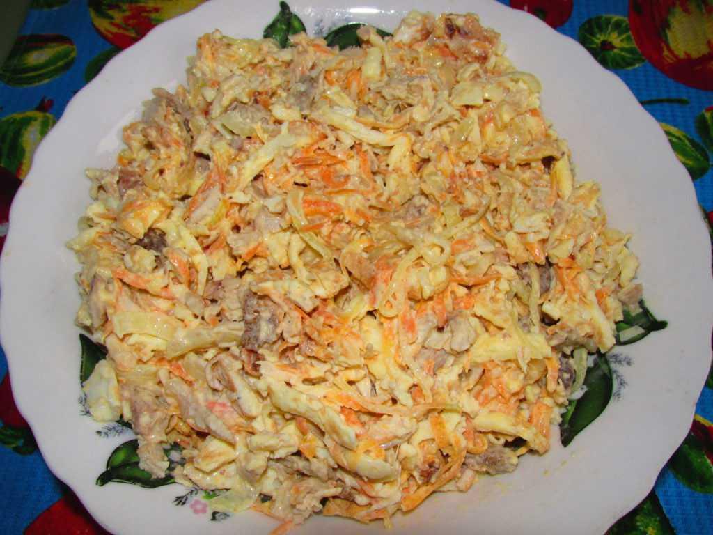 11 рецептов салата с курицей и сыром