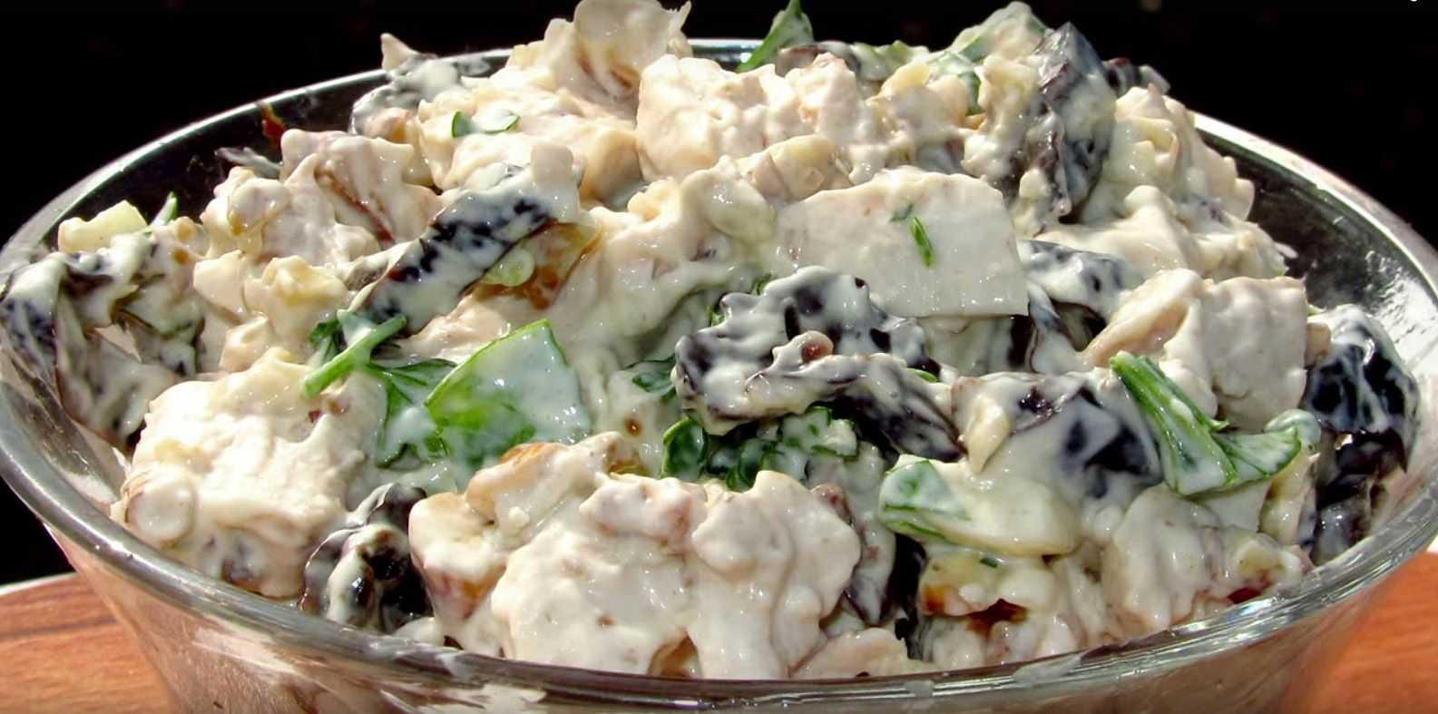 Салат курица с черносливом и грецким орехом - рецепт с сыром. 10 пошаговых фото   народные знания от кравченко анатолия