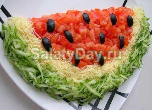 Салат арбузная долька: рецепты с фото пошагово