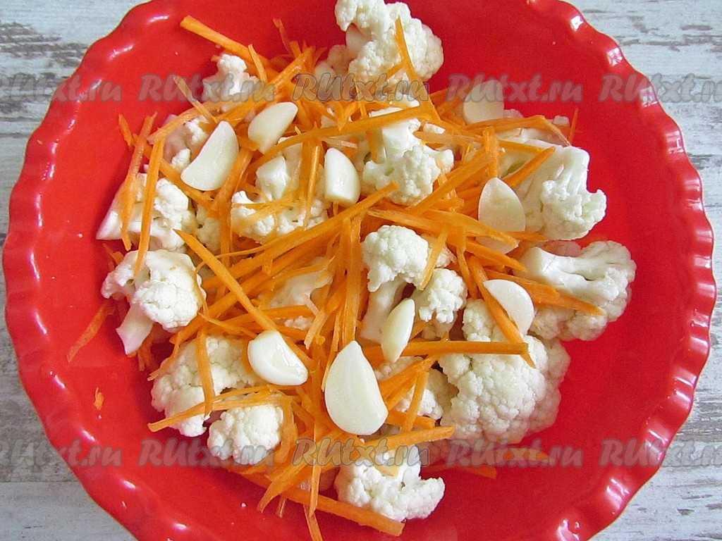 Маринованная цветная капуста быстрого приготовления: фото блюда, а также вкусные и полезные рецепты со свеклой, морковью и болгарским перцем русский фермер