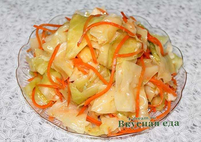 Маринованная капуста быстрого приготовления с уксусом яблочным: рецепты для употребления сразу и засолка в банках на зиму